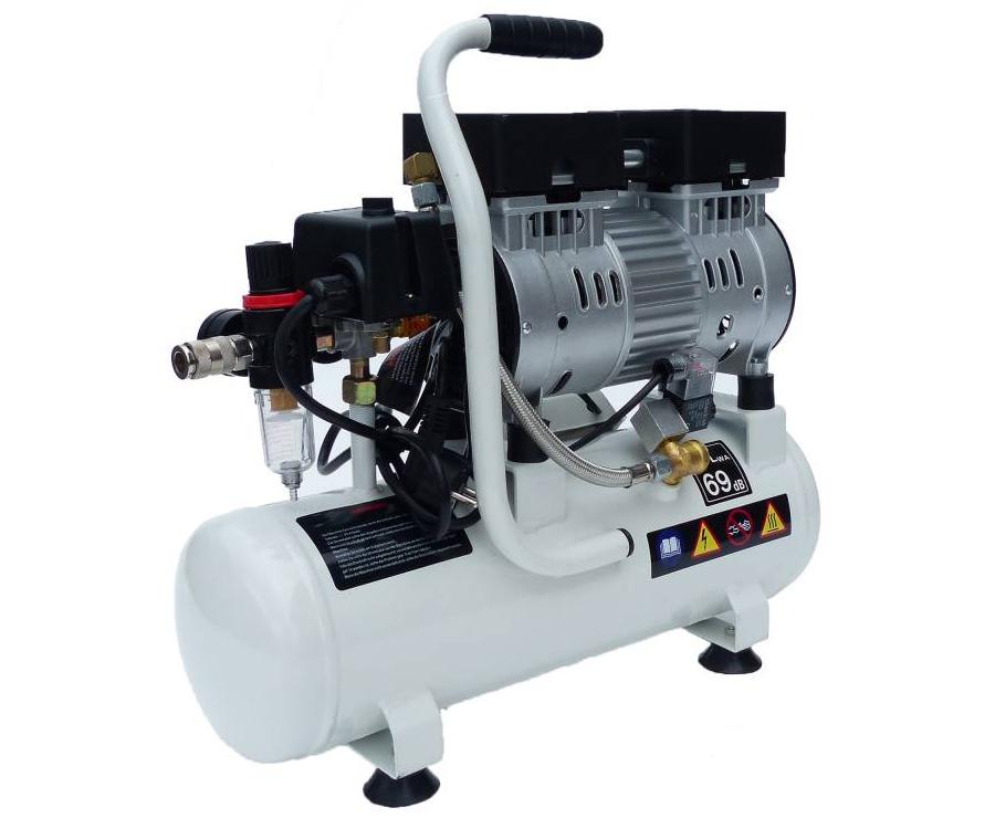 Susurro compresor de aire silencioso silent comprimido 8l for Compresor de aire silencioso